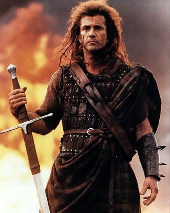 mel gibson braveheart kilt. Mel Gibson as William Wallace