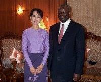 Ibrahim Gambari and Aung San Suu Kyi
