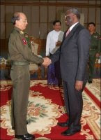 Gambari with Burma PM