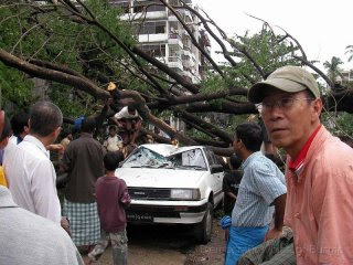 Cyclone Nargis damage