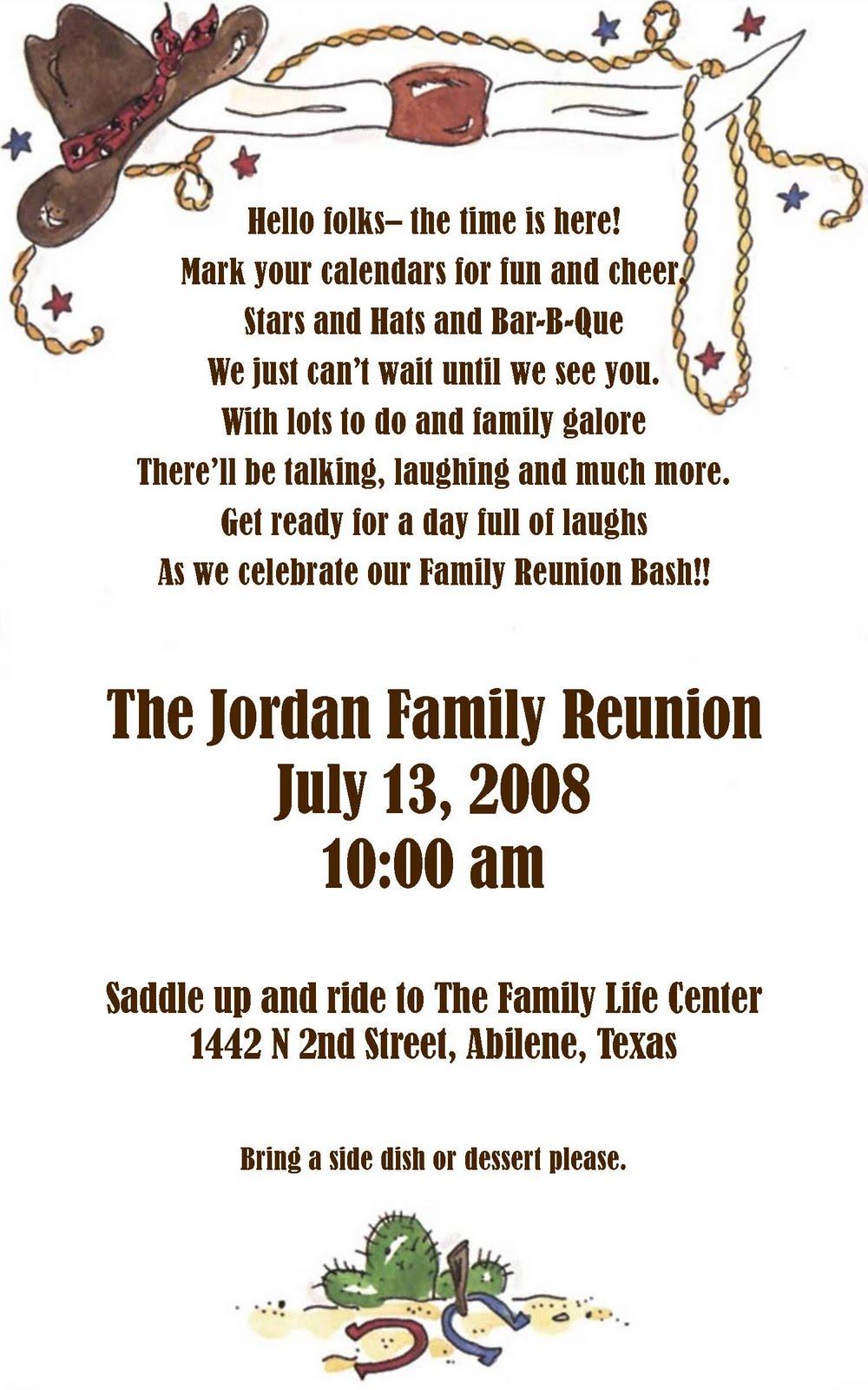 Ideas For Family Reunion Invitations as awesome invitation ideas