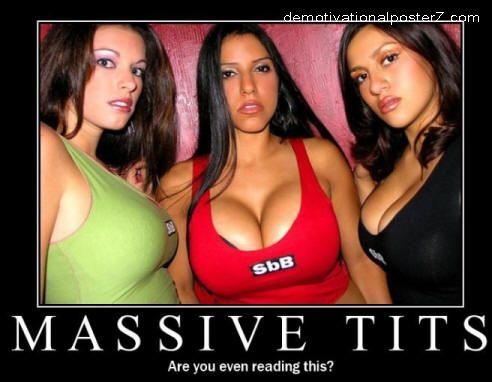 massive tits motivational poster