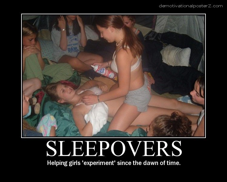 Sleepovers motivational poster