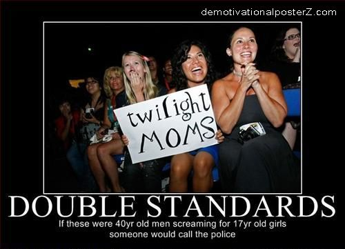 Twilight moms double standards