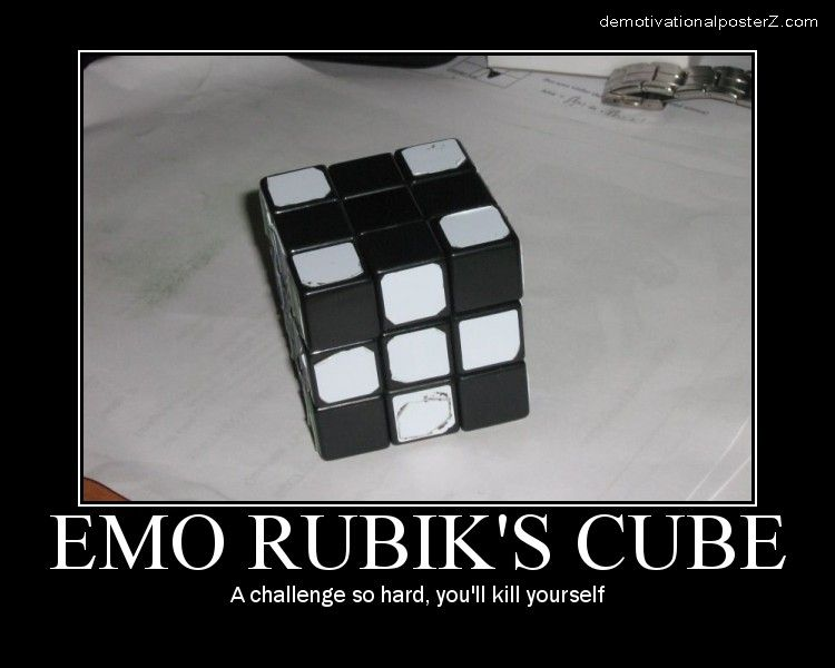 emo rubiks cube motivational