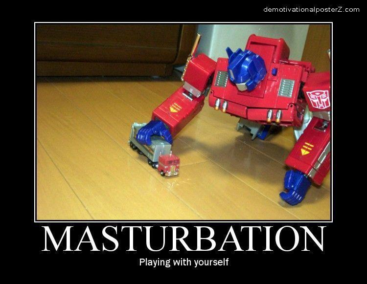 Transformer masturbation - playing with yourself