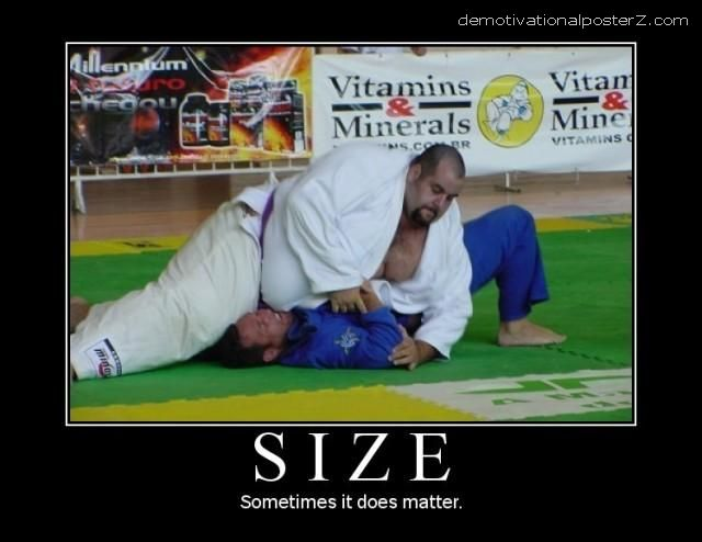 Size - sometimes it does matter