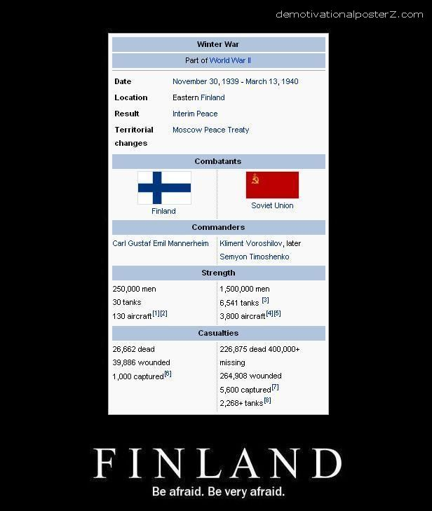 Finland - be afraid - be very afraid