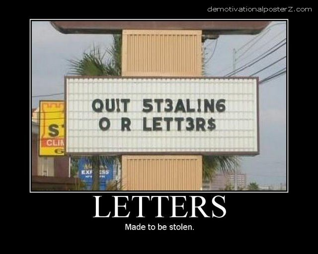 LETTERS - Made to be stolen