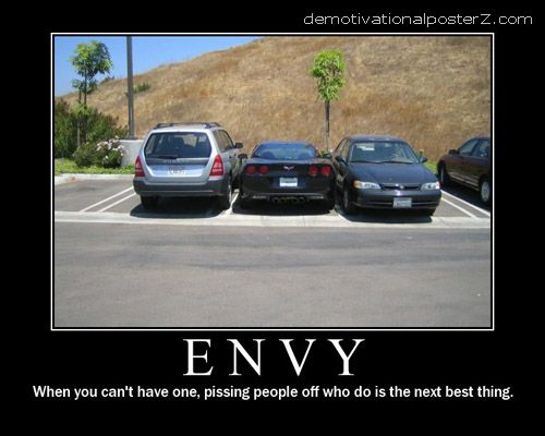 envy corvette motivational poster