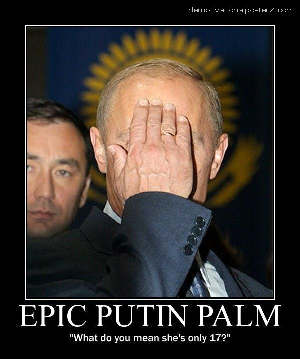 EPIC PUTIN PALM facepalm motivational