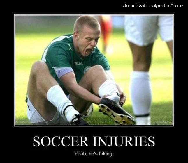 bad soccer injury