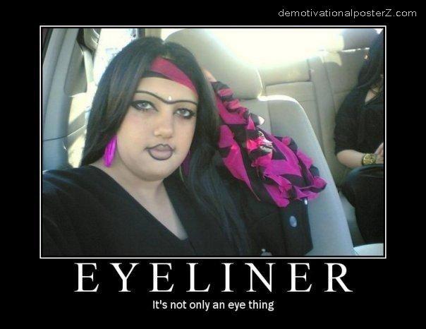 eyeliner fail