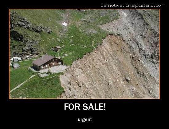 house on landslide