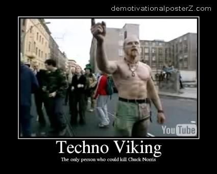 techno viking motivational poster