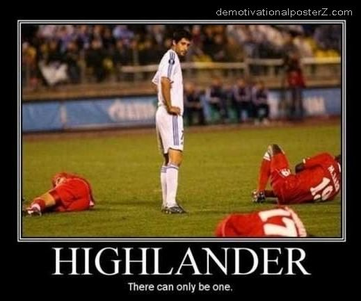 HIGHLANDER - THERE CAN ONLY BE ONE soccer motivational