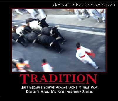 tradition stupid running with bulls