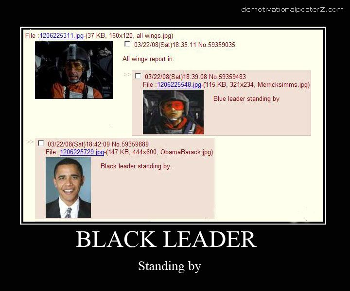 black leader standing by obama