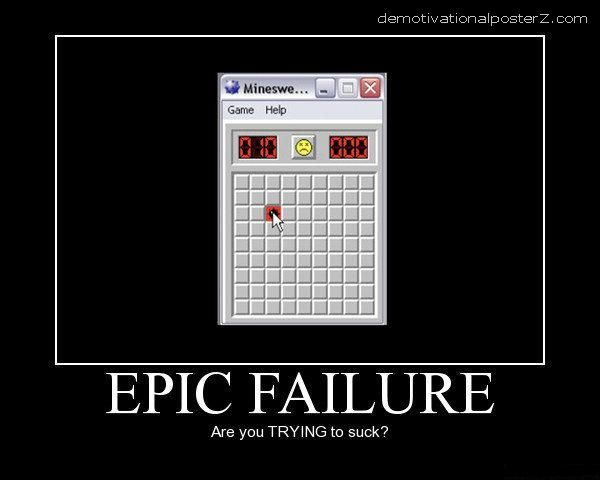epic minesweeper fail