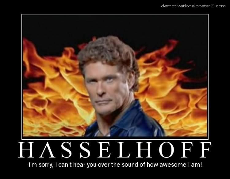 hasselhoff david awesome poster