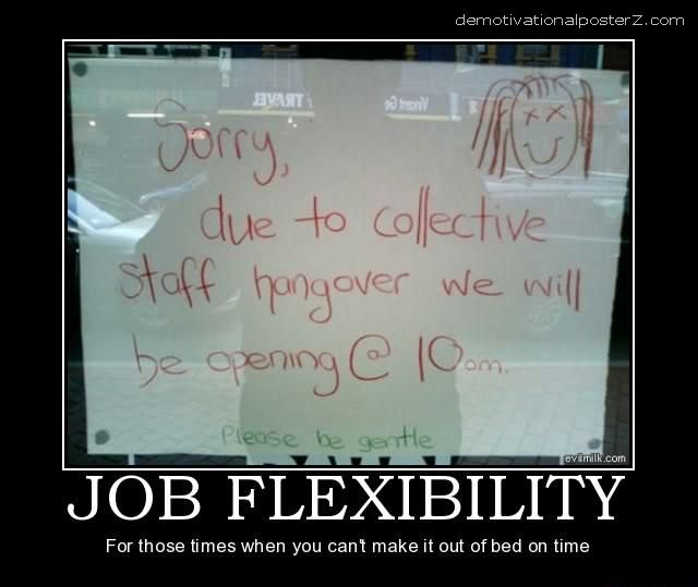 job flexibility collective staff hangover