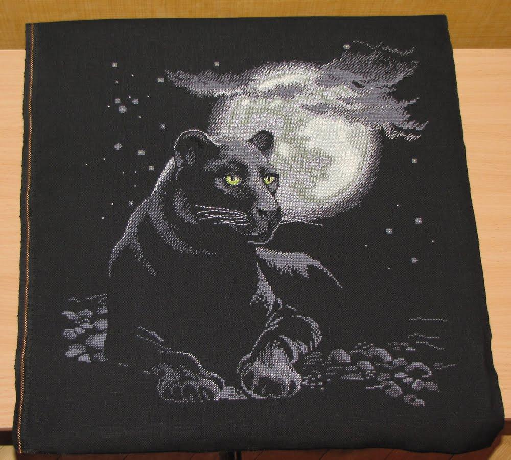 Схемы вышивки картины на черном