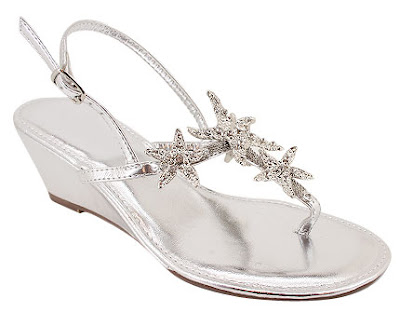 Romantic Silver Wedding Shoes Wedge Stylesperfect