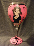 Hand Painted Personalized Wine Glass~Forty  and Fabulous