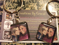 Glass Tile Photo Key Chains