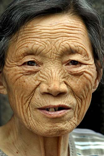 picture of wrinkled person