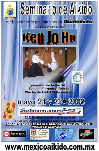 Afiche 4to. Seminario Aikido AHAN Guatemala