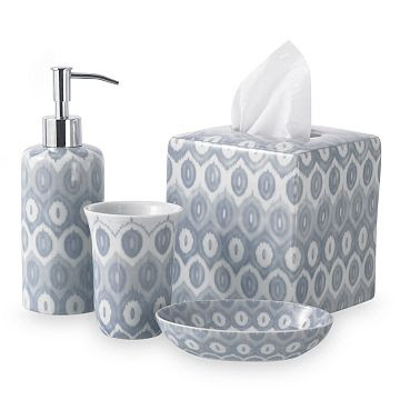 Ikat Design Inspired Bath Accessories