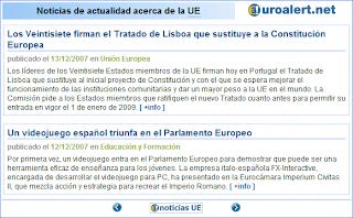 Versión extendida del widget de información de la Unión Europea