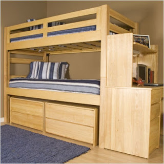Complete Graduate Series Extra Long Bunk Bed Bedroom Set
