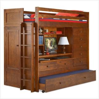 Echo Falls Computer Loft Bedroom set in rosewood