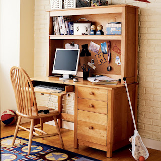 Natural simple computer desk