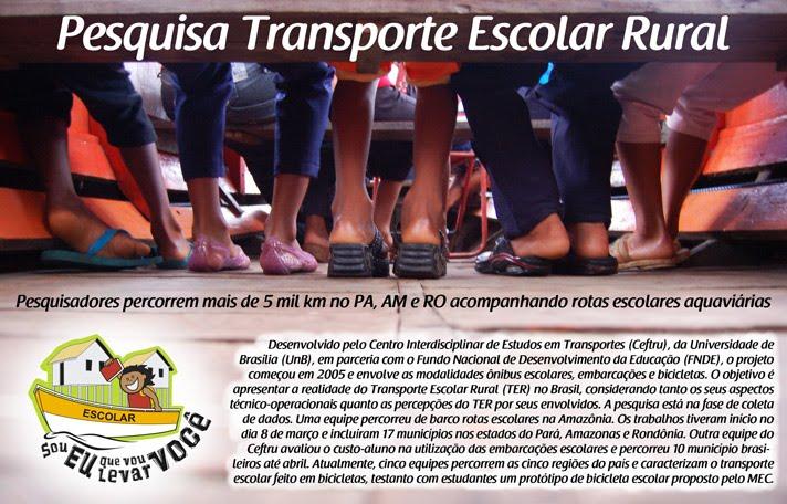 Pesquisa Transporte Escolar Rural