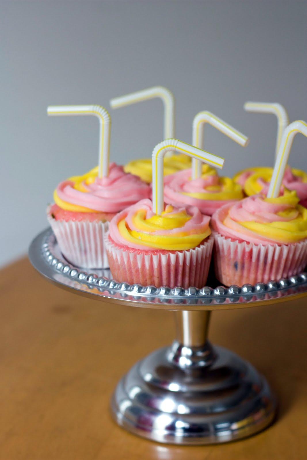 Pink Lemonade Confetti Cupcakes Recipe — Dishmaps