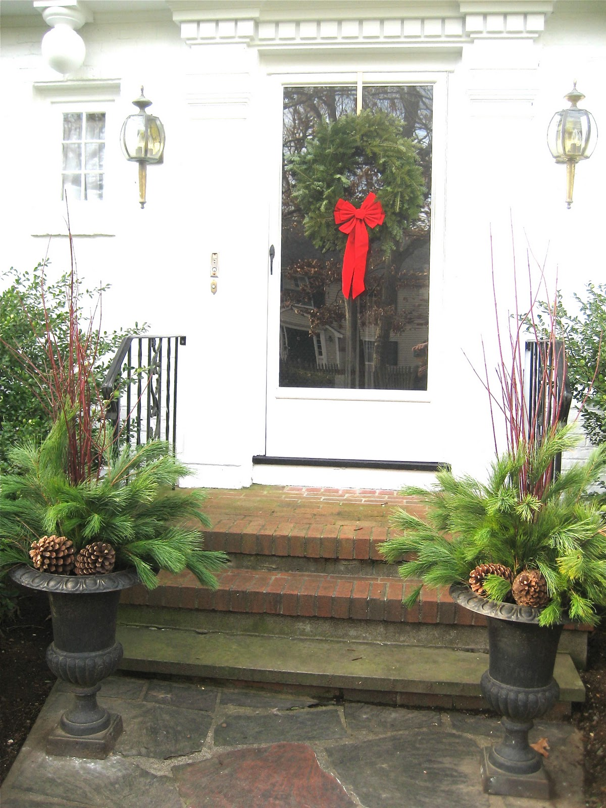 Living It At Home: Our Easy Christmas Decorations For Front Door {Side Door}