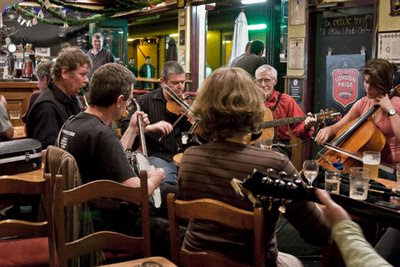 Jam session at the Celtic