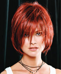 Saç Rengi Saç Renkleri Saç Modelleri Saç şekilleri Kısa Kızıl