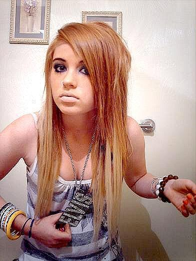 Cute Scene Girl. blonde-scene-hair-for-girls. Red scene Hair