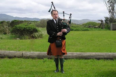 This is such a beautiful story of a bagpiper who was late for a funeral.