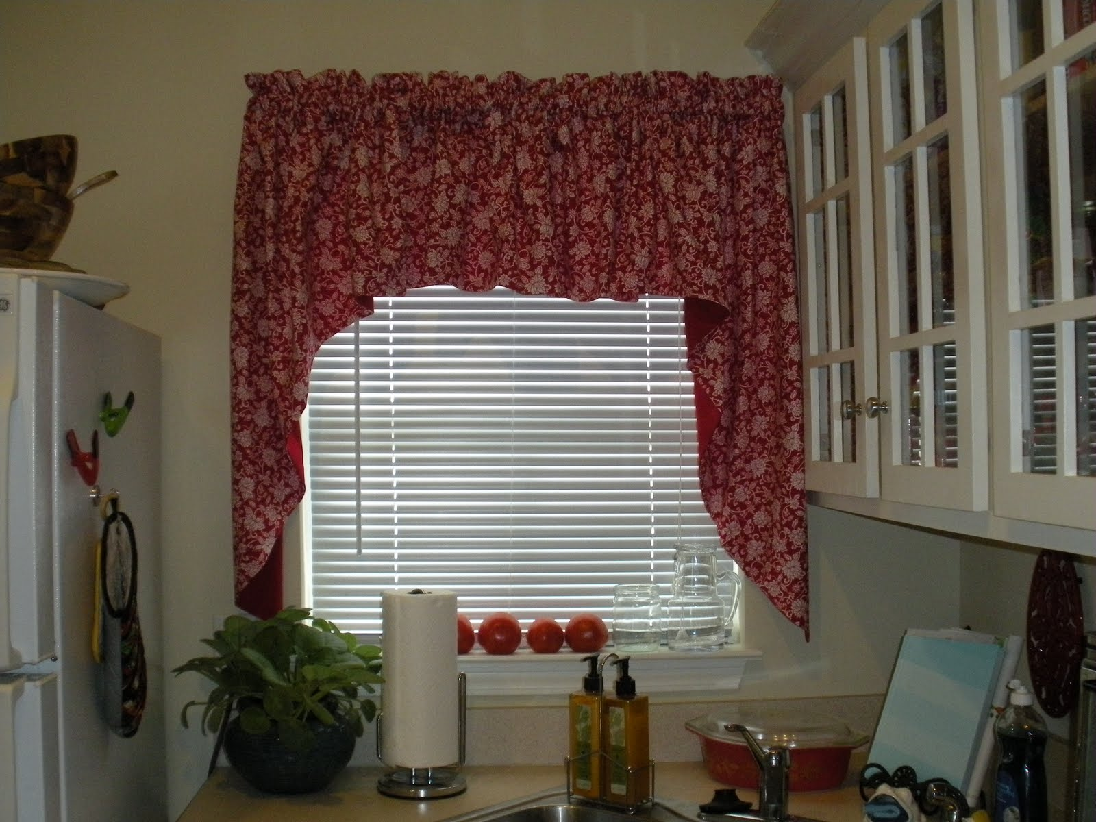 once upon a time i had a very sad kitchen window curtain from target