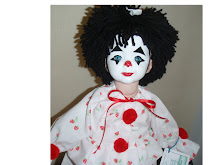 Porcelain Clown  by Gaye Jennings arrived to Mary O'Neill Doll Museum in March 2009.