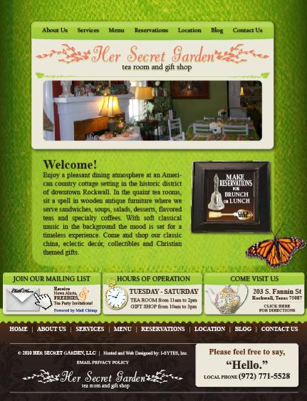 Her Secret Garden Tea Room Rockwall