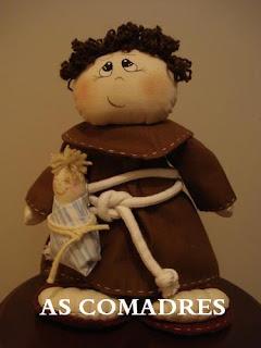 boneco santo antônio buquê