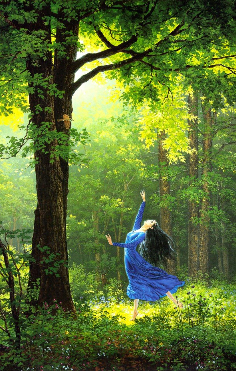 Dançando na floresta!!!