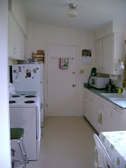 kitchen in the little stucco house