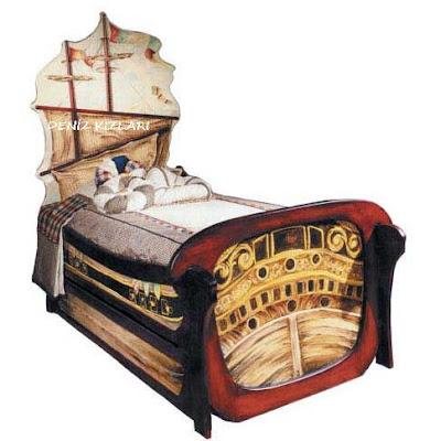 gemi tipi çocuk yatağı